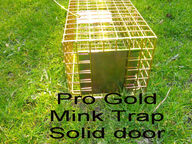 Pro gold mink trap, humane mink cage trap that's the best mink trap you can buy, guaranteed not to fail in normal use.